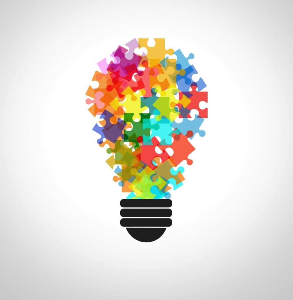 ampoule en puzzle